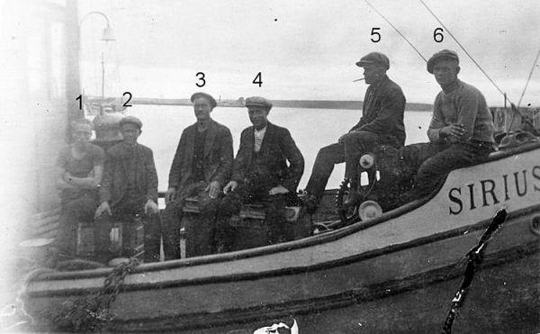 nro 3 Valfrid Ratia. Kaljaasi Sirius rakennettiin 1913 Kustavissa.